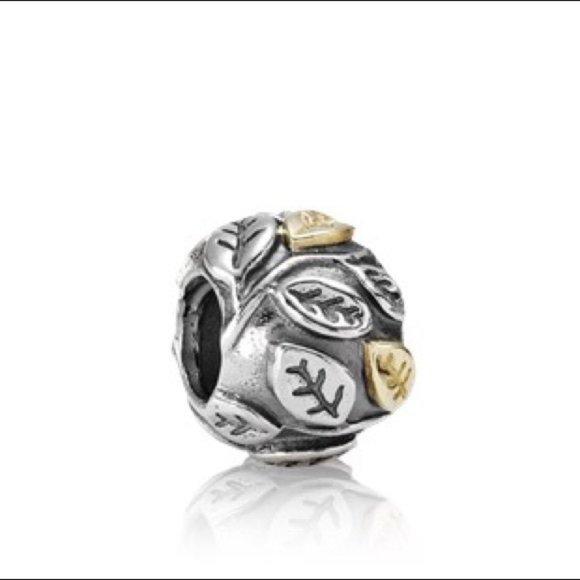 Pandora Tree of Life Charm with 14k Gold 790429